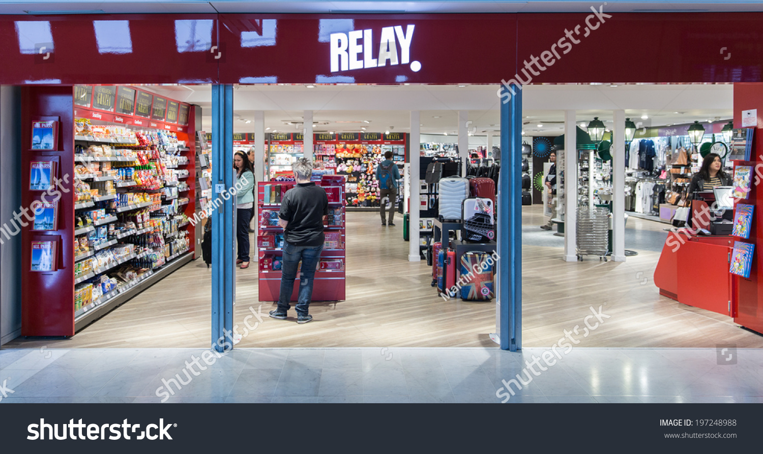 Paris France May 27 2014 Relay Stock Photo Edit Now 197248988 Terminal 3 Cdg A Newspaper Magazine Book