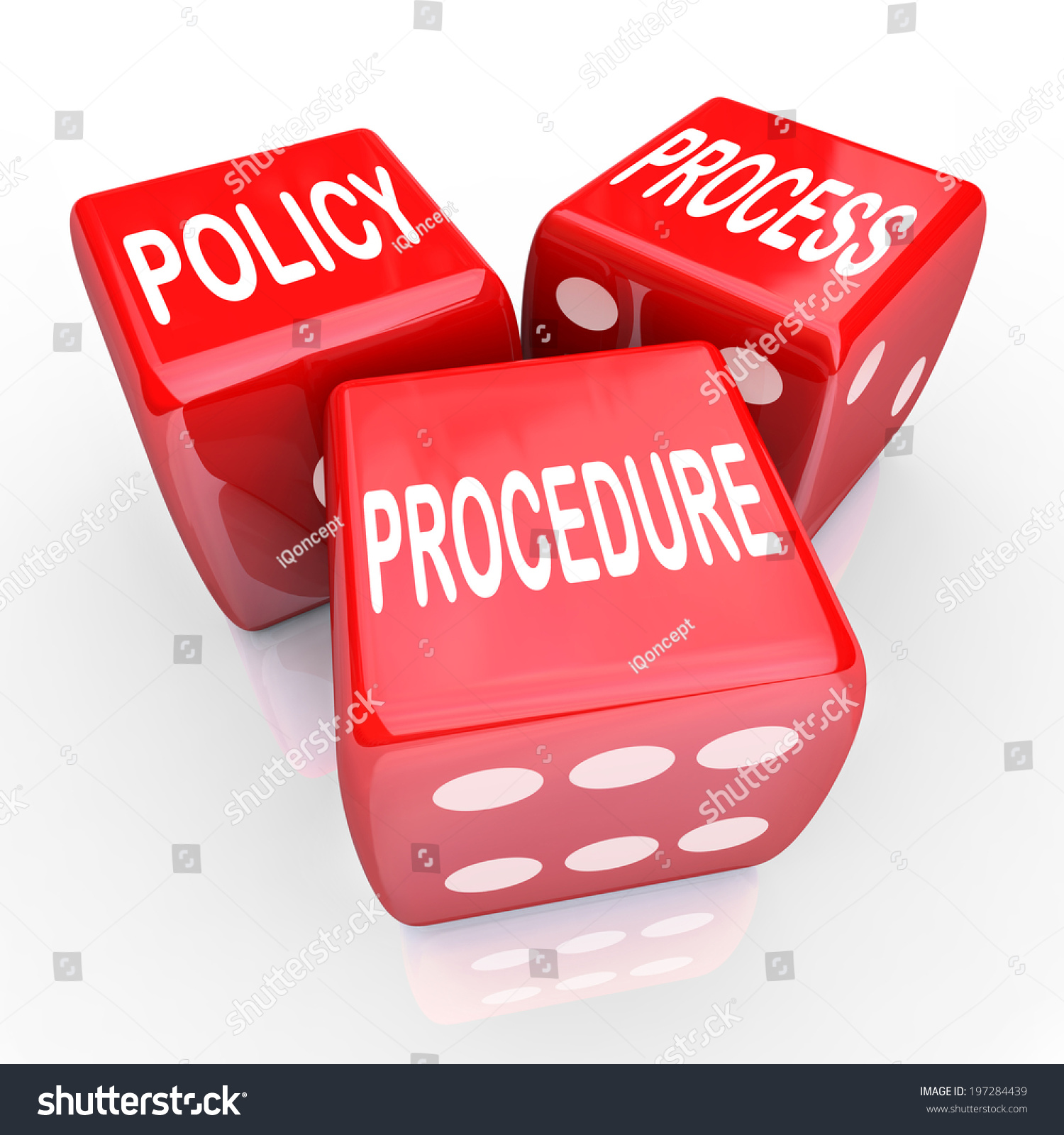 Rules Procedures: Policy, Process Procedure Words Three Red Dice