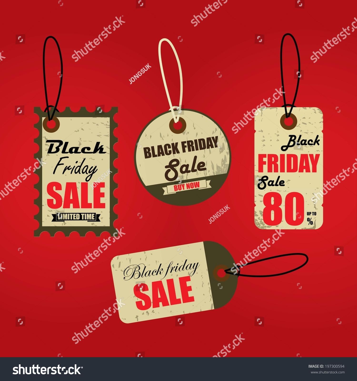 black friday sales tag sales tag stock illustration 197300594