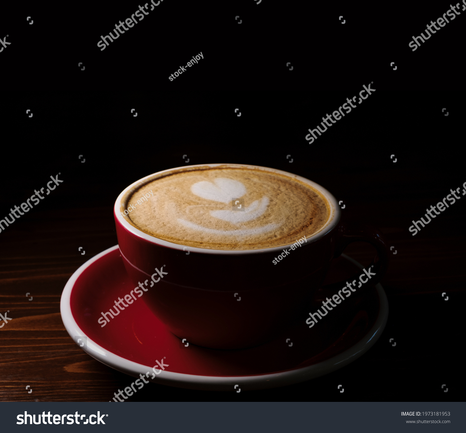 stock-photo-red-cup-of-latte-coffe-with-