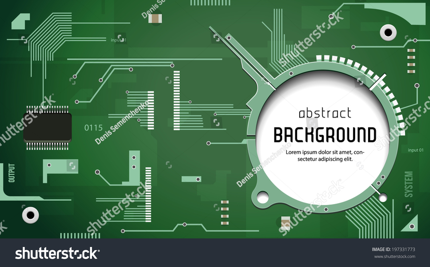 Printed Circuit Board Chip Cpu Processor Stock Vector Royalty Free Green Background Computer Technology Texture With Eps10
