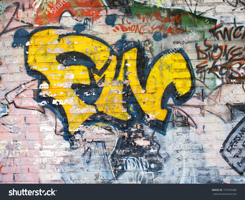 AGUASCALIENTES, MEXICO - OCTOBER 5: Artistic graffiti or street art ...