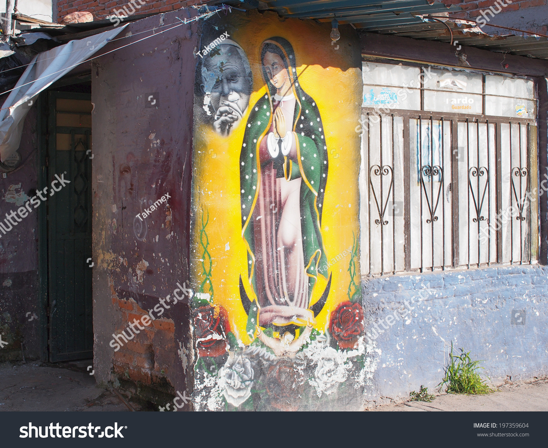 AGUASCALIENTES MEXICO OCTOBER 5 Prayer Mural Stock Photo (100% Legal ...