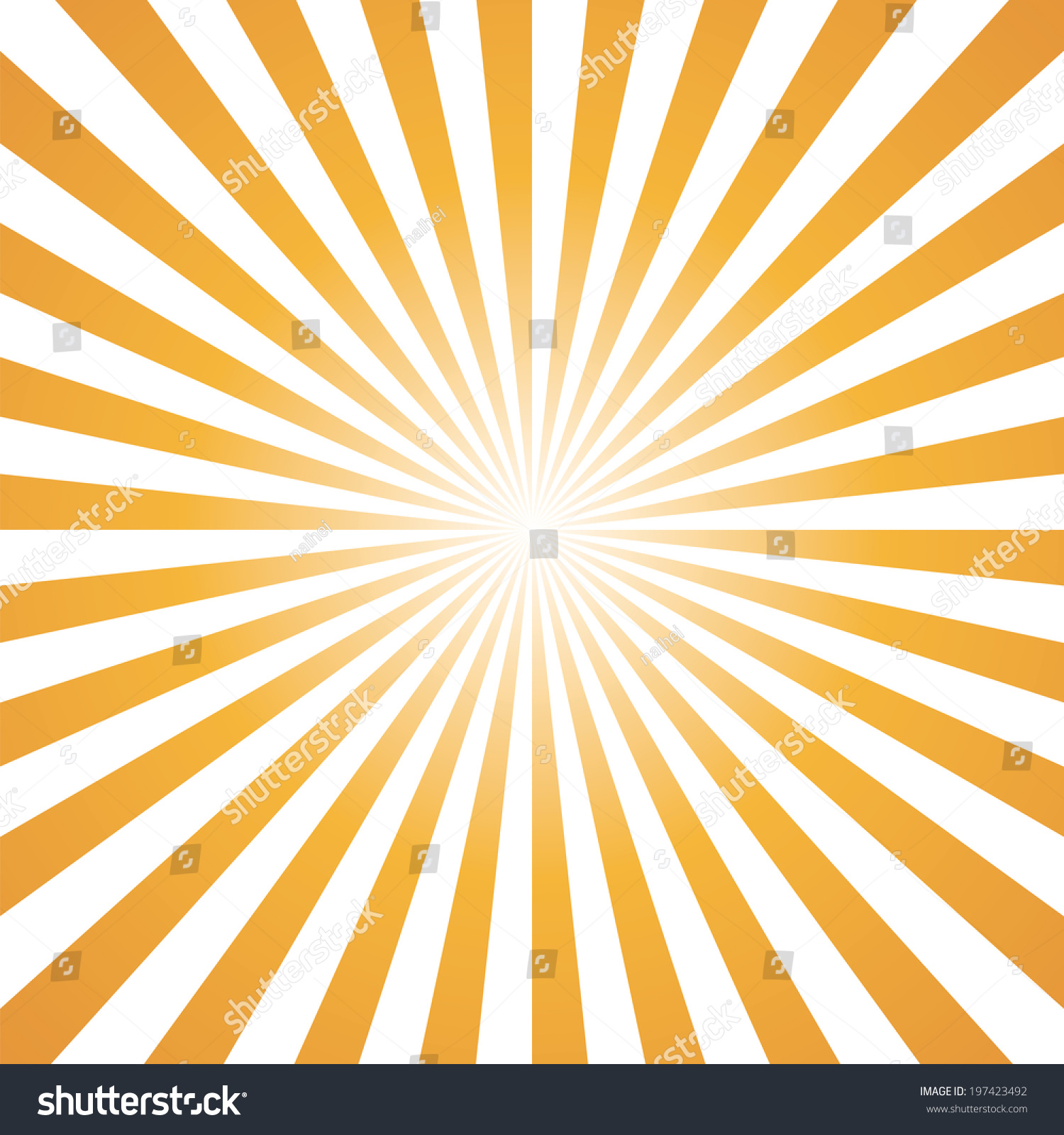 Orange White Color Burst Background Vector Stock Vector