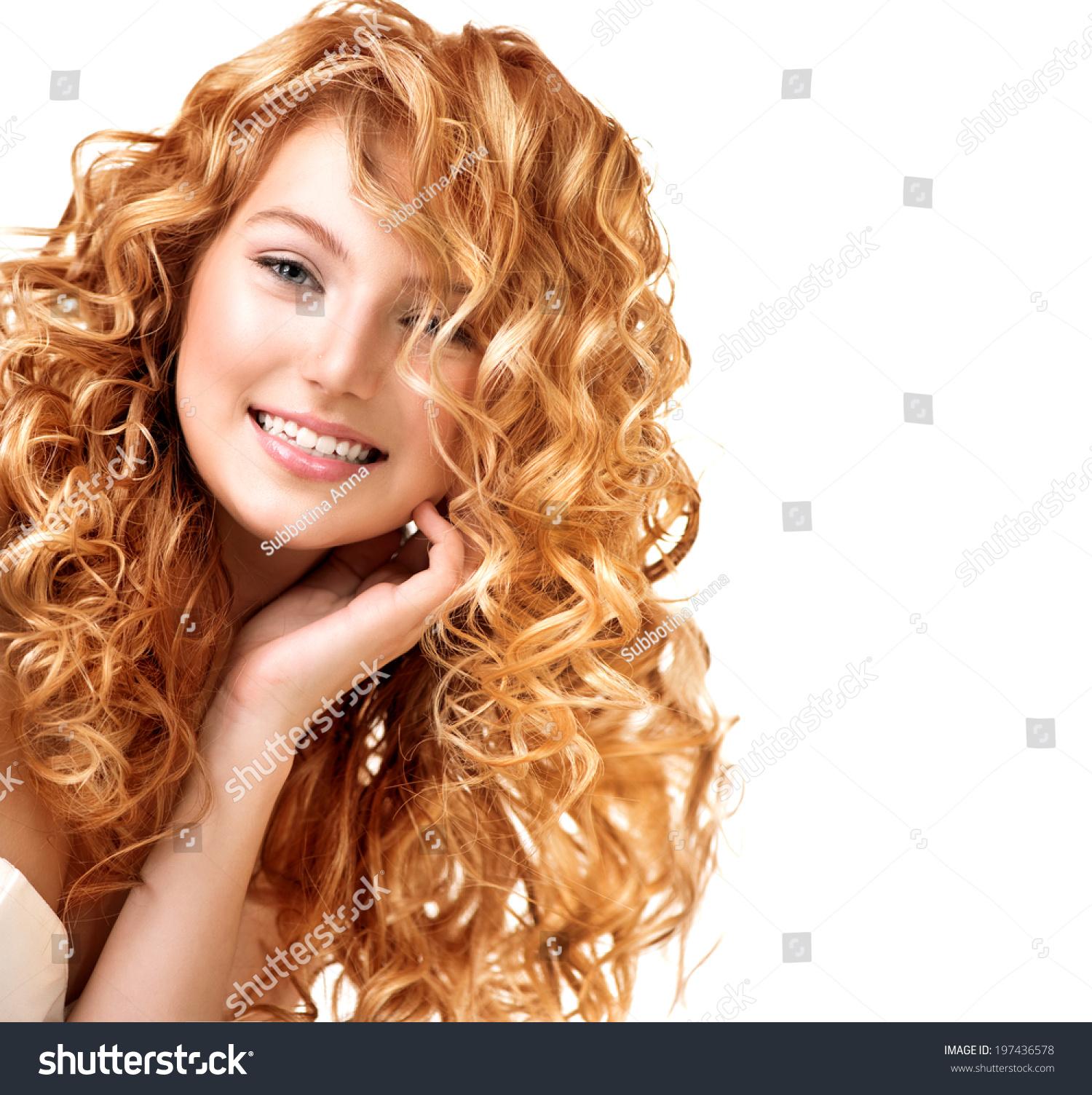 Beauty Teenage Model Girl Portrait Isolated Stock Photo