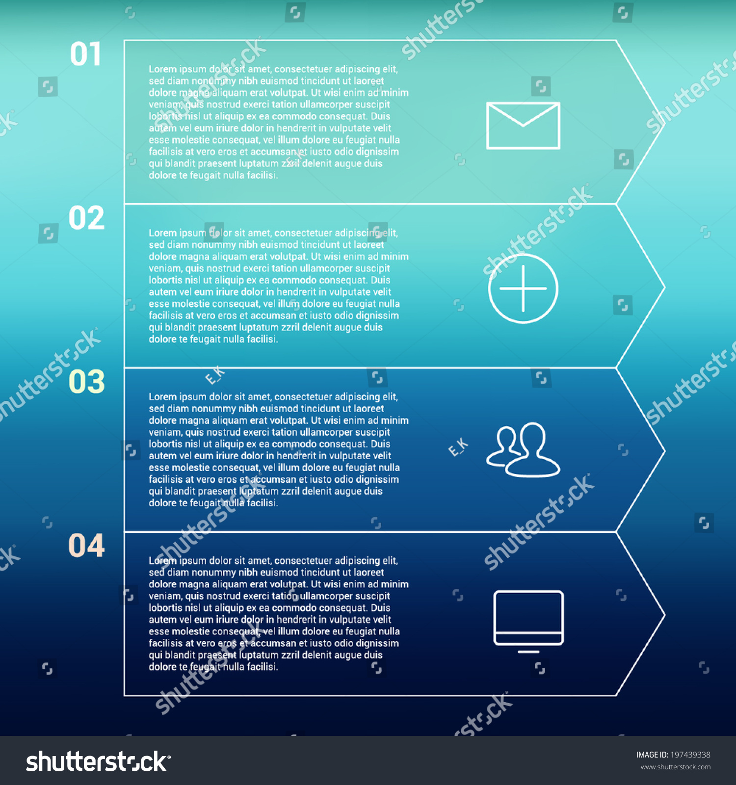 Modern Minimal Style Infographic Template Layout Stock Vector Process Flow Diagram Infographics Numbered Banner Cutout Lines Data Scheme