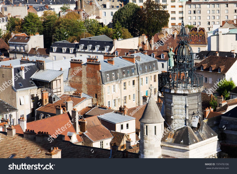 Ancient architecture dijon city view above stock photo for Dijon architecture
