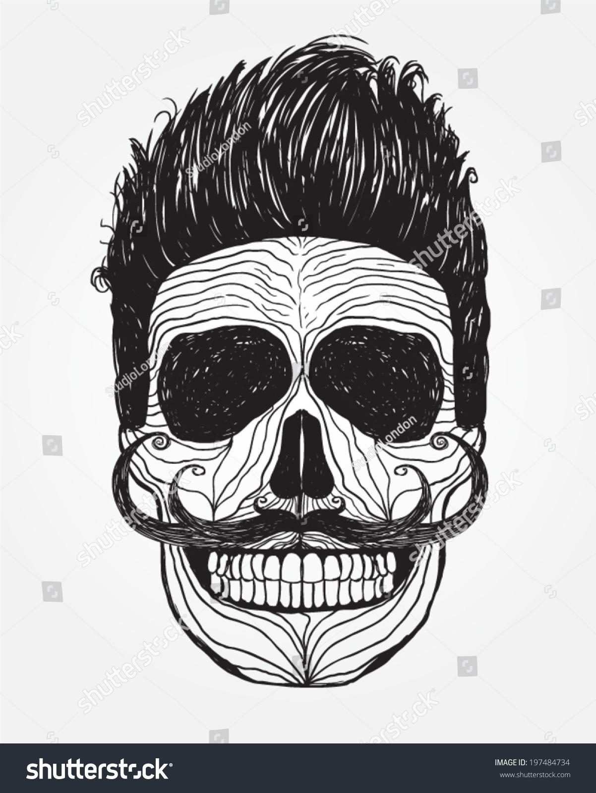 Skull Illustration Mark Danger Warning Tshirt Stock Vector ...