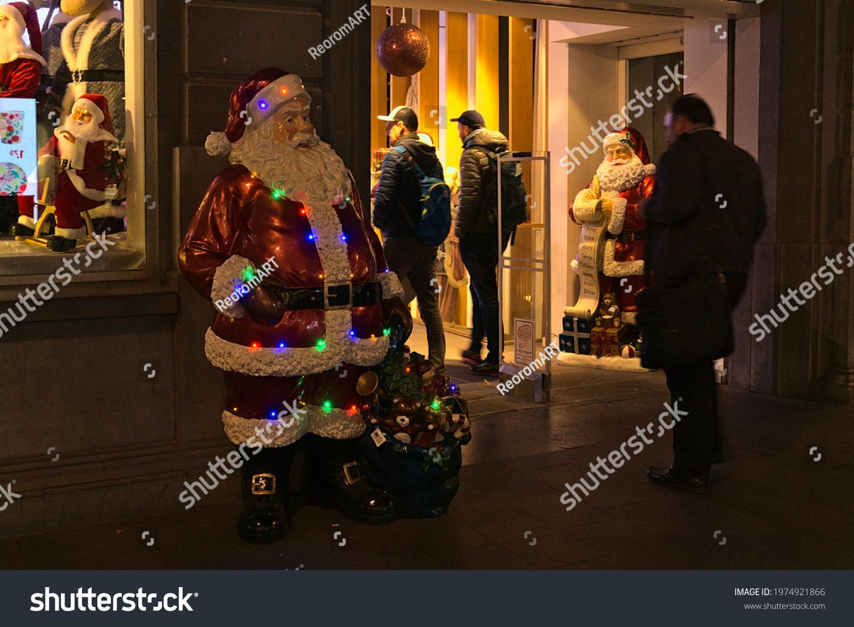 stock-photo-christmas-decorations-throug