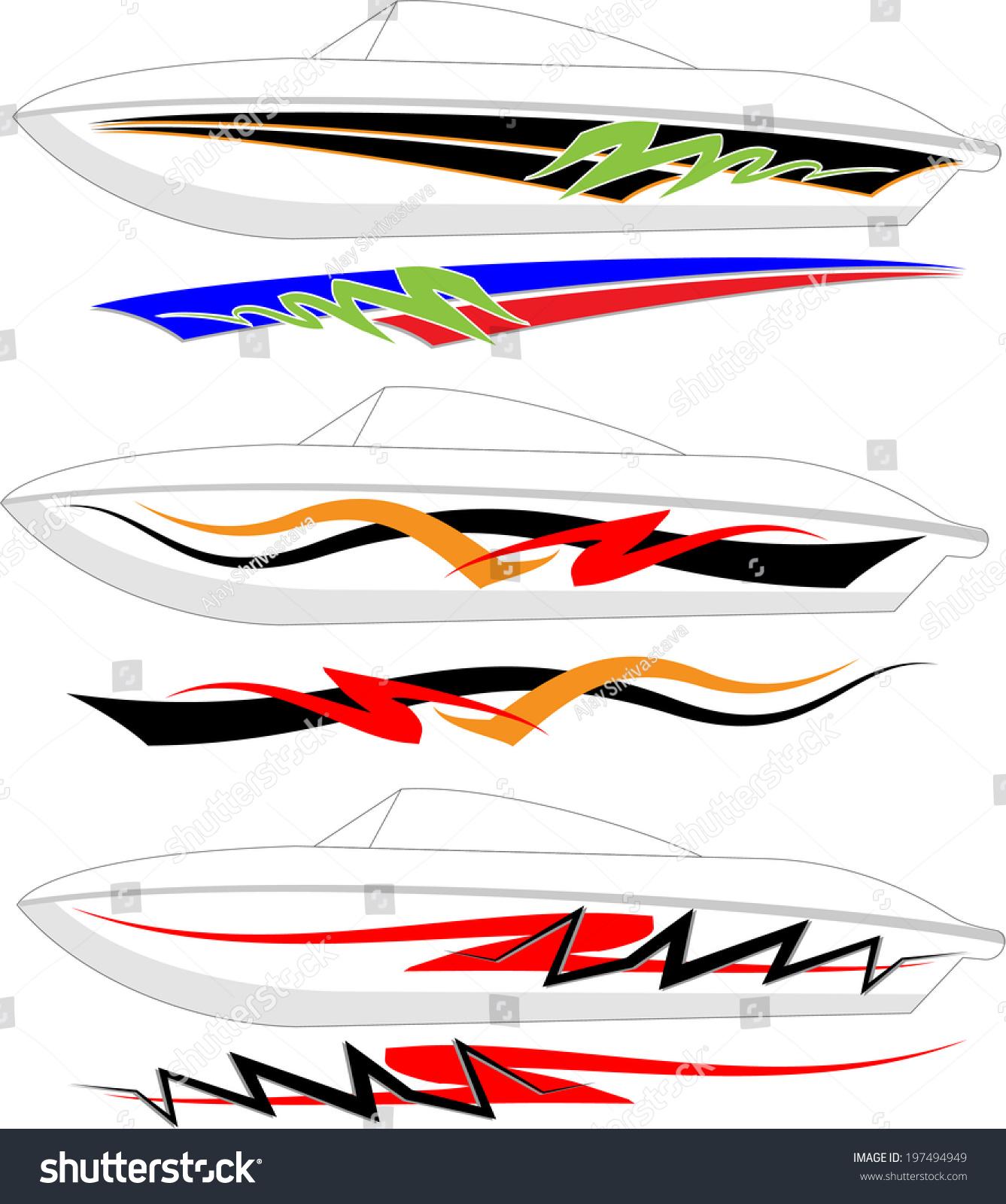 boat graphics stripe vinyl ready