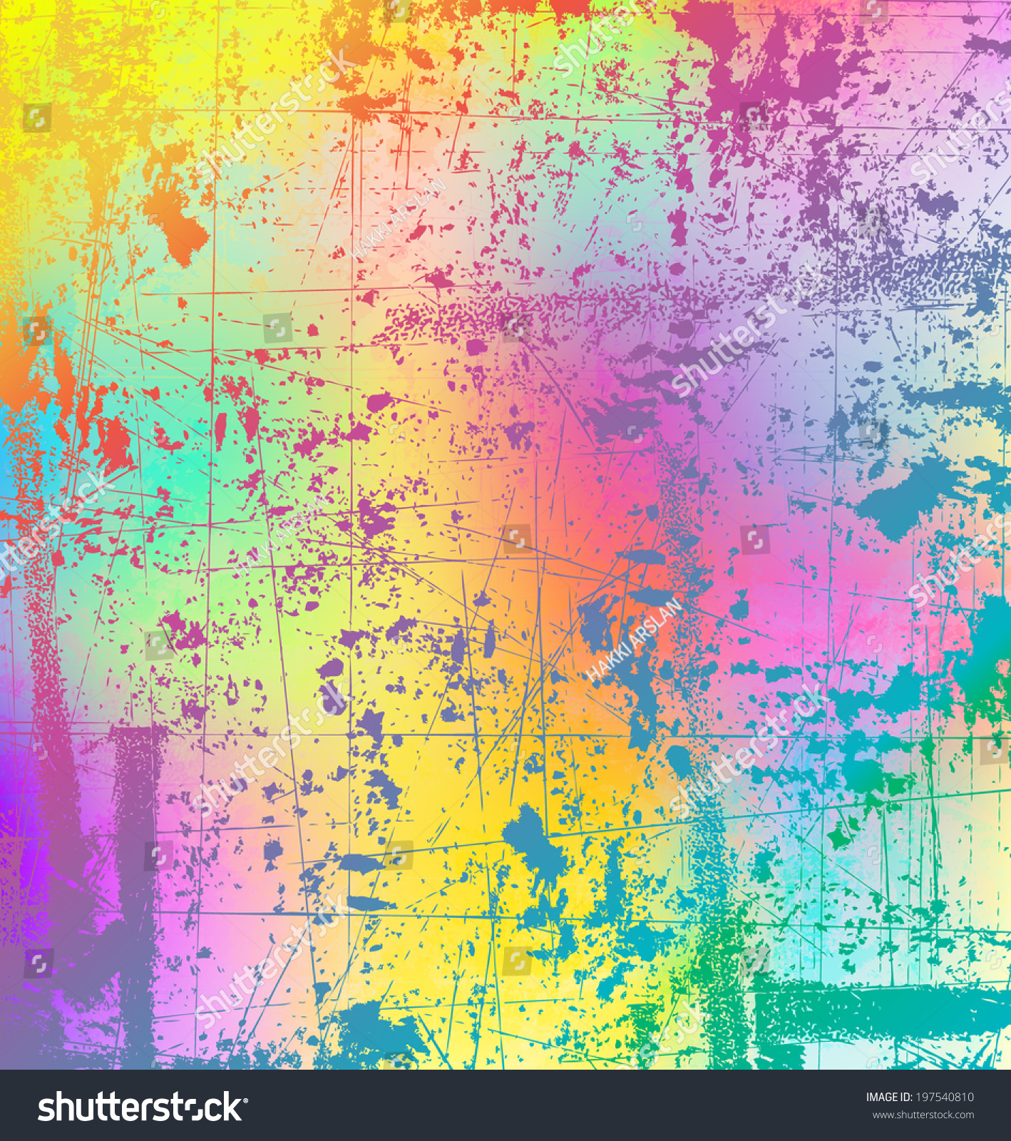 Abstract Grunge Style Color Splash Background Stock Vector (Royalty ...