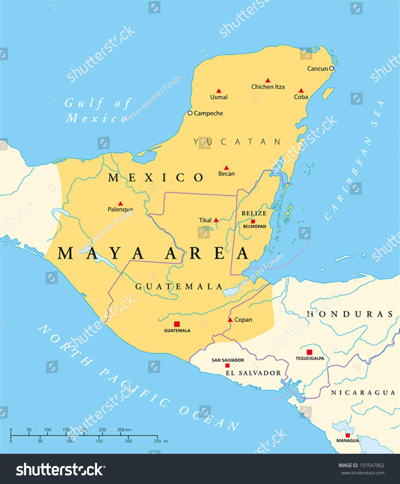 Mayan Empire Map | World Map 07