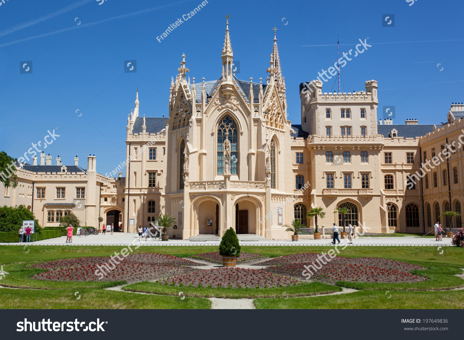 Lednice Chateau Czech Republic Europe Stock Photo