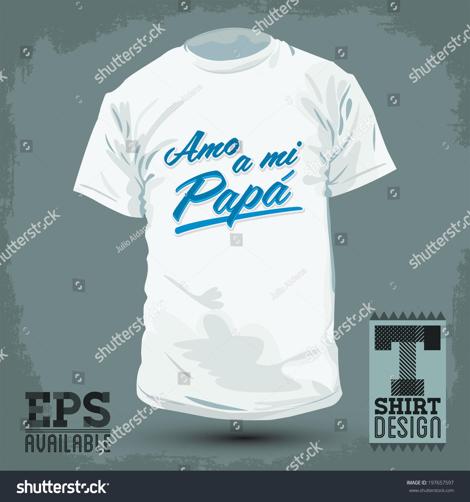 Graphic T Shirt Design Amo Mi Stock Vector (Royalty Free) 197657597