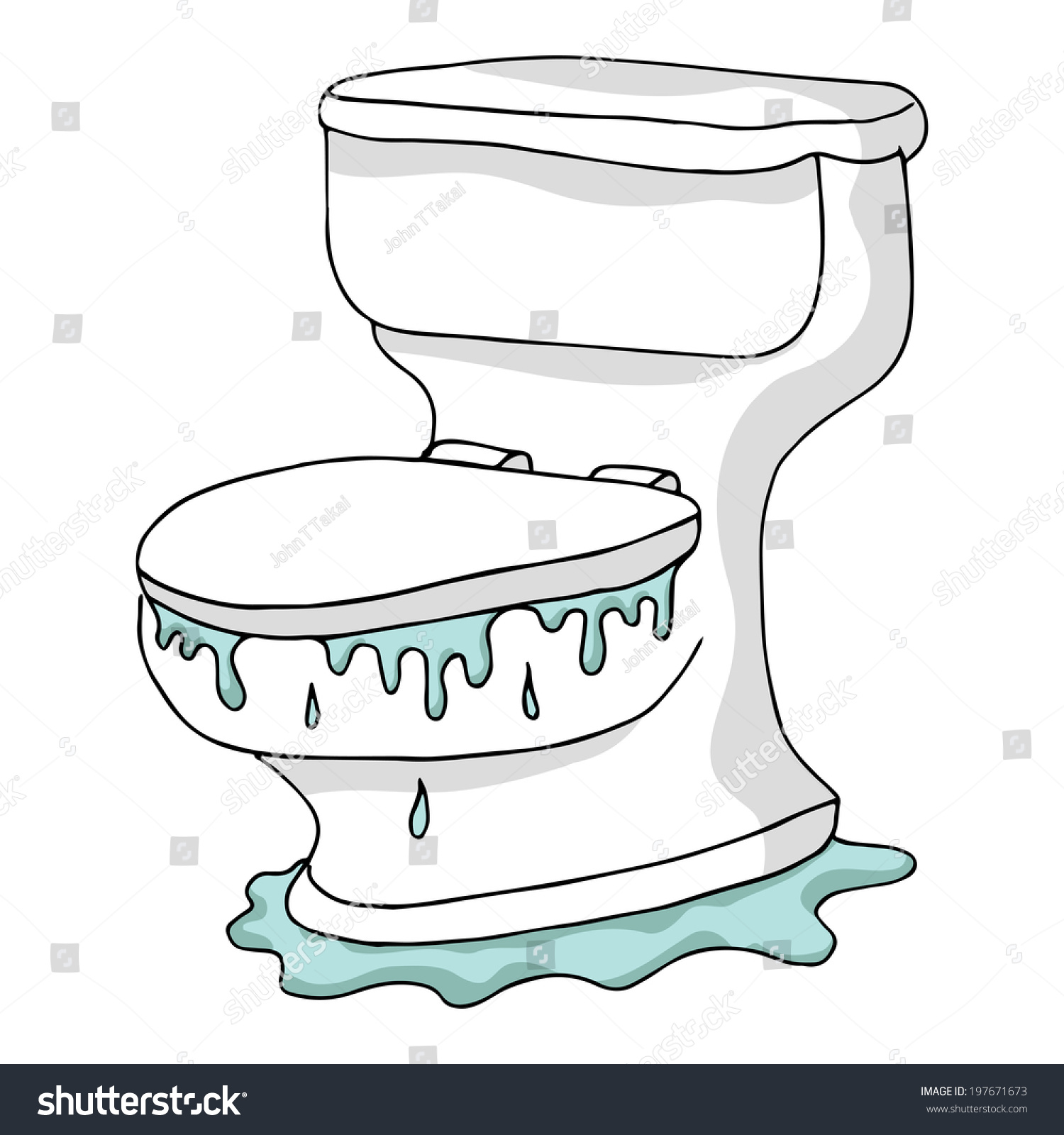 Image Overflowing Toilet Stock Illustration 197671673