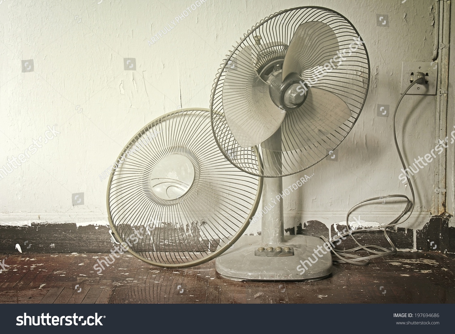 Royalty Free Dirty Broken Old Electric Fan In Hot 197694686 Stock Barbed Wire Photo Public Domain Pictures Weather Process Warm Tone Color
