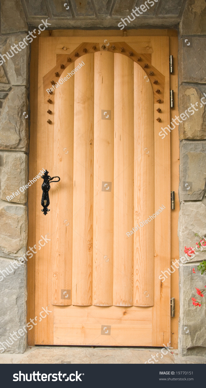 Traditional wooden doors in house located in polish mountains stock photo 19770151 shutterstock - Traditional polish houses wood mastership ...