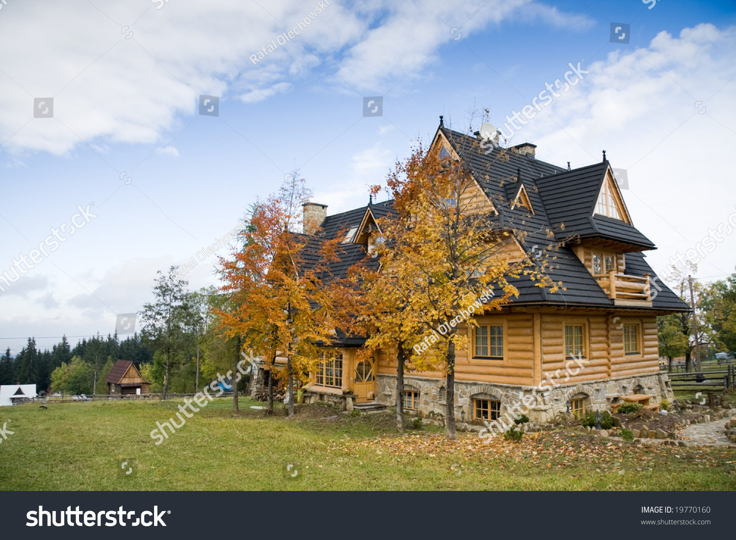 Traditional Polish Wooden House In Tatra Mountains 6 Stock ...