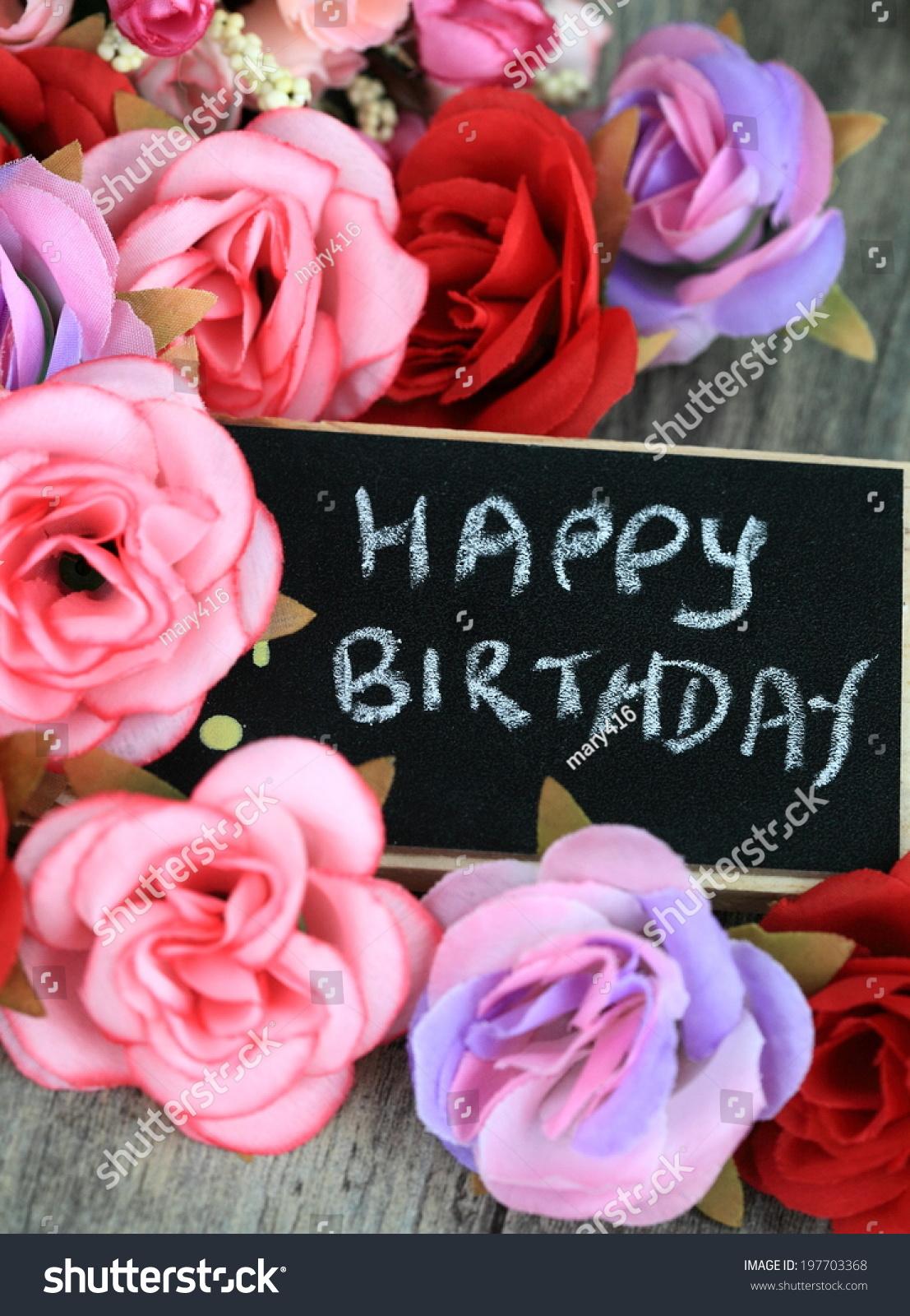 Birthday Wishes Flowers Background Stock Photo Edit Now 197703368
