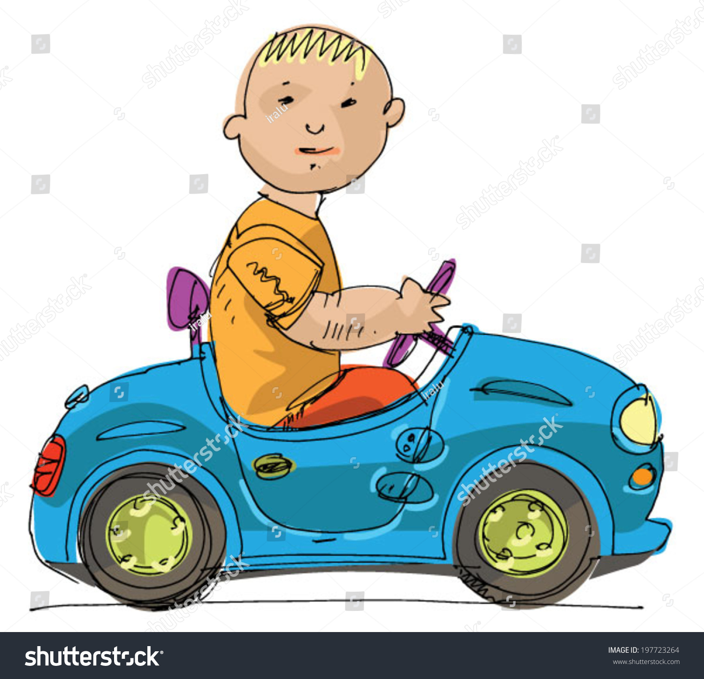 Little Boy Toy Car Stock Vector Shutterstock