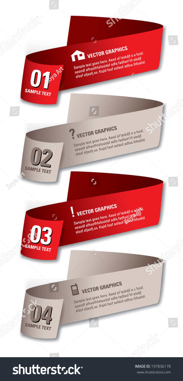 Infographics Numbered Banners Vector Modern Illustration Stock ...