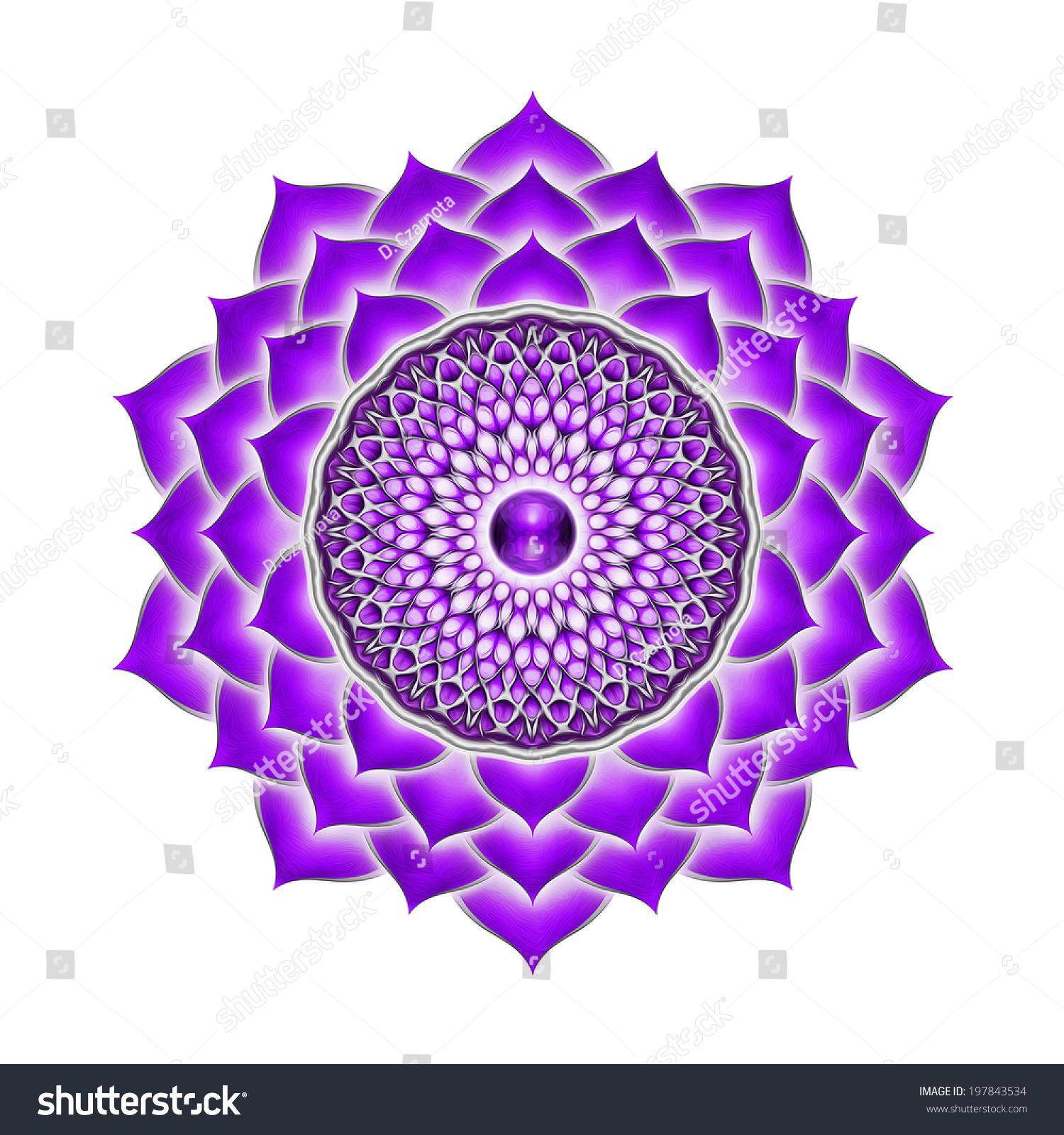 Crown Chakra Mandala Stock Photo 197843534 : Shutterstock