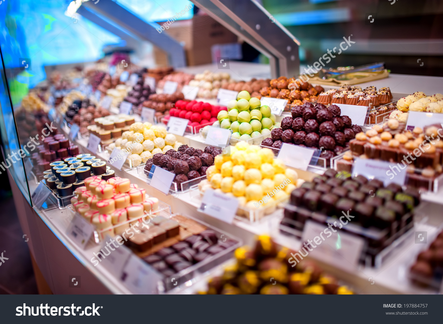 Chocolate Truffles Candies Sweets Store On Stock Photo 197884757 ...