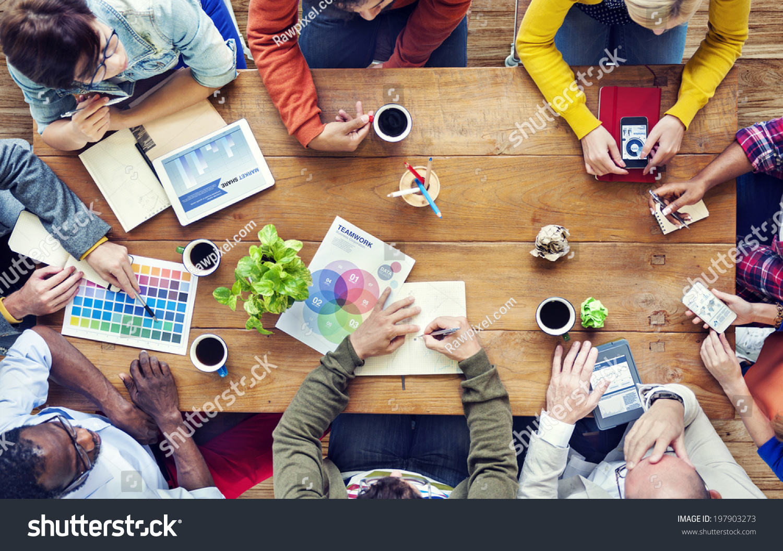 Group of Multiethnic Designers Brainstorming #197903273