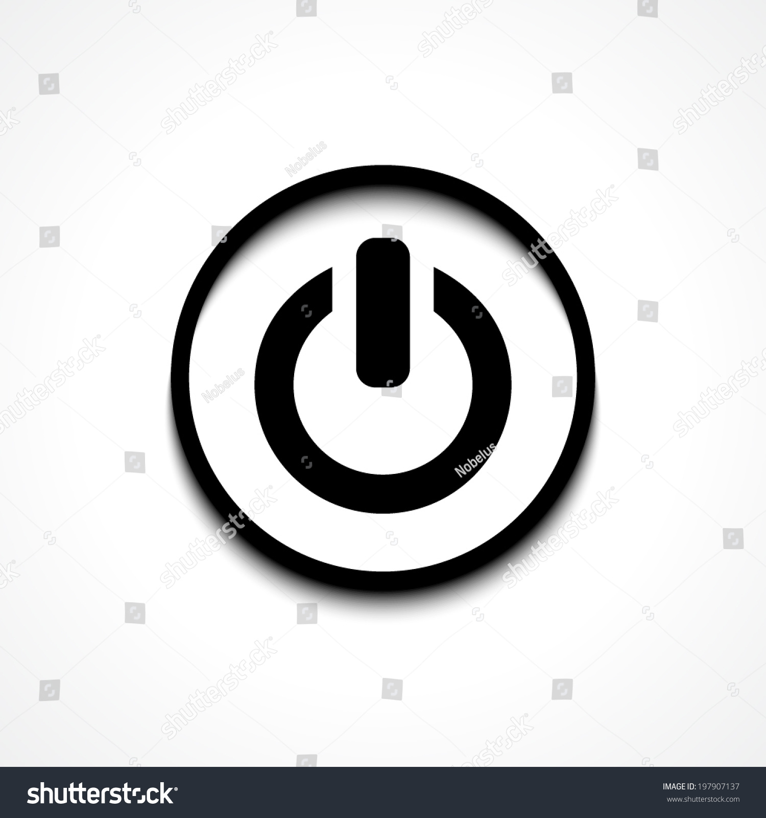 Power Sign Icon Switch On Symbol Stock Vector (Royalty Free ...