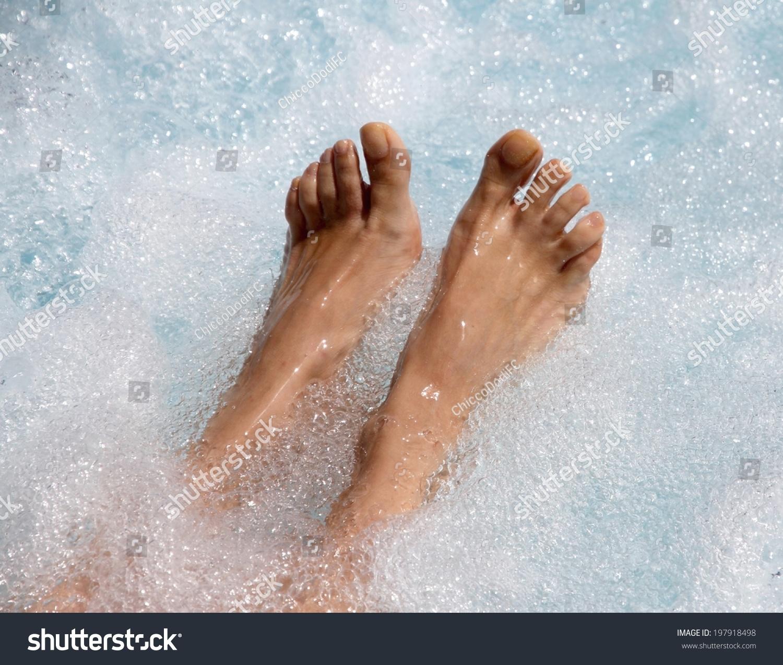 Two Beautiful Womens Feet Jacuzzi Facilitate Stock Photo (Edit Now ...