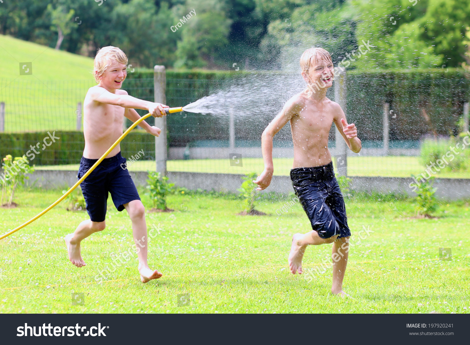 happy laughing children two young stock photo 197920241