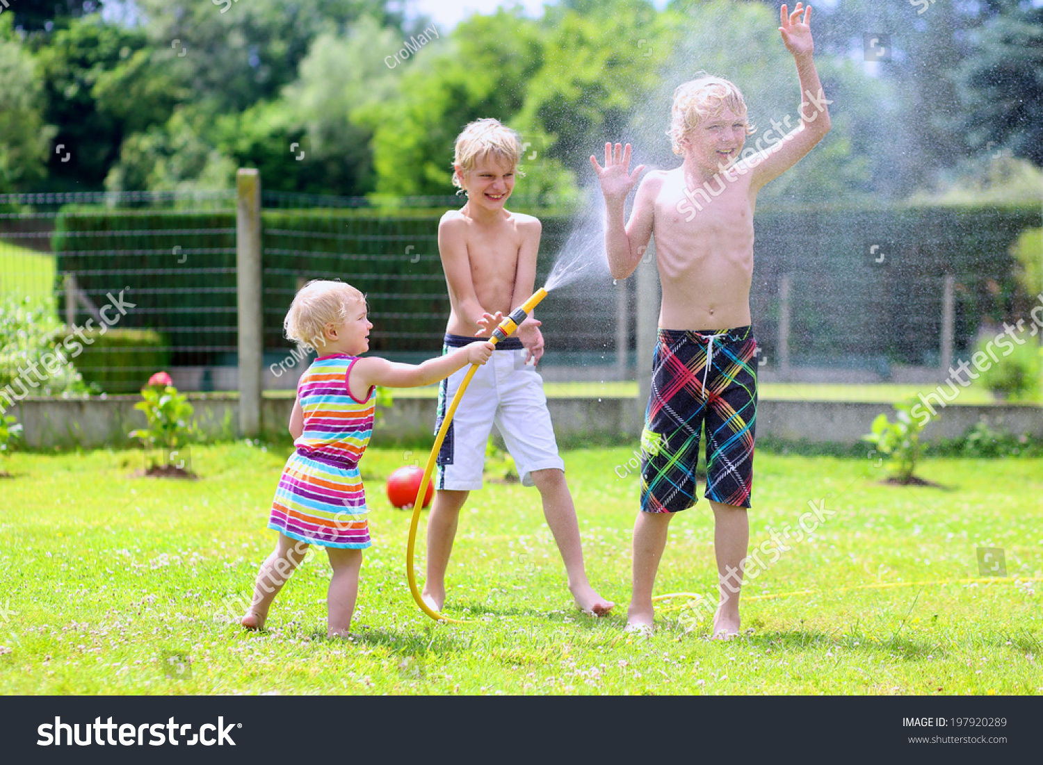 happy laughing children two young stock photo 197920289