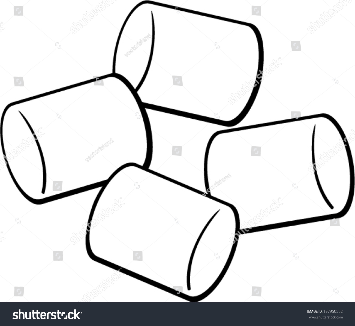 Marshmallow Clipart Black And White | www.pixshark.com ...