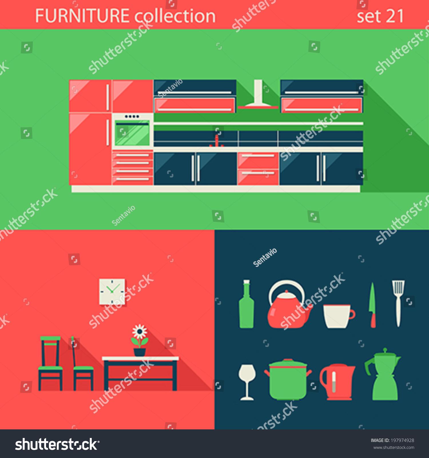 Royaltyfree Creative design flat furniture vector 197974928 Stock