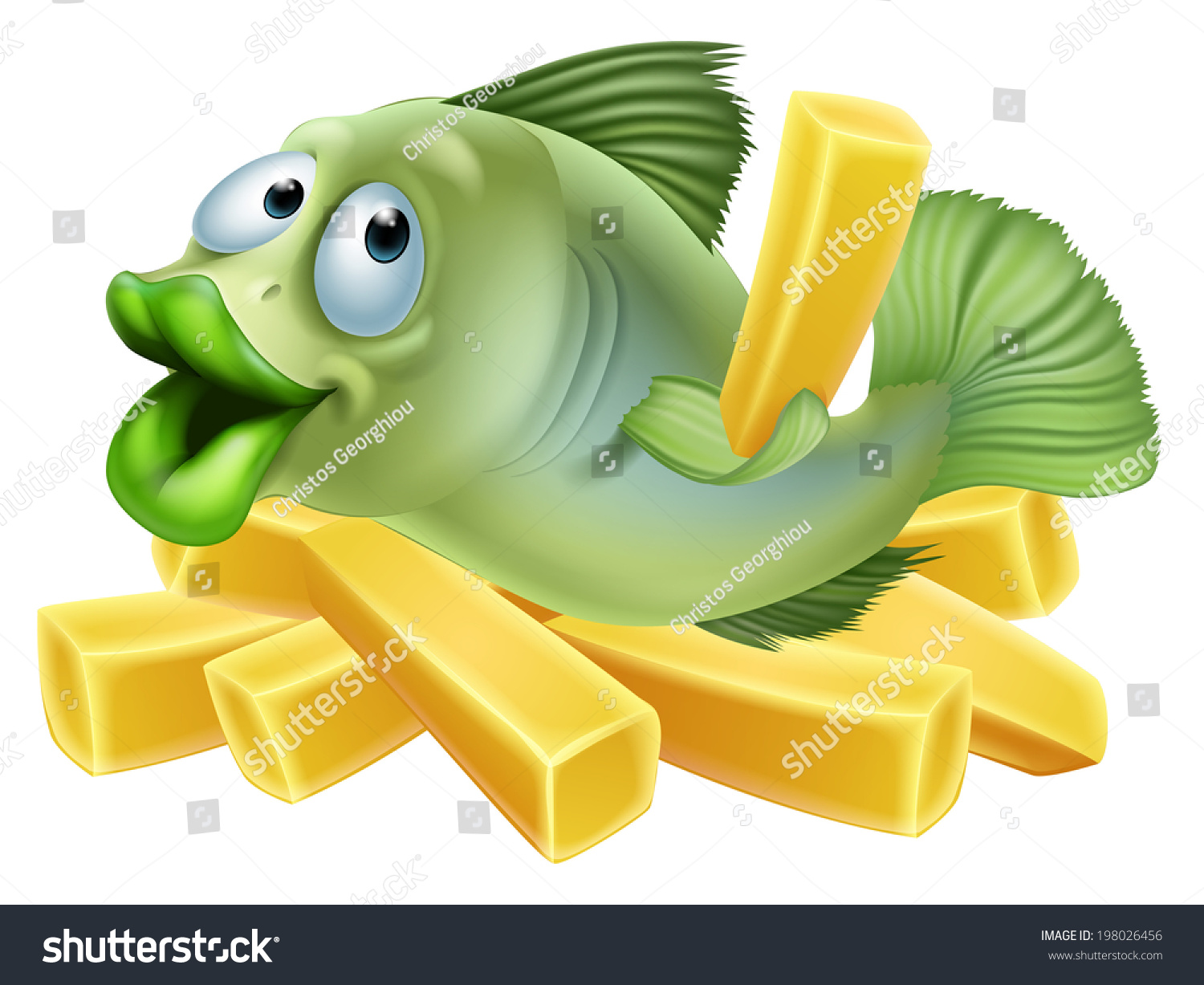 cartoon fish chips seafood concept stock vector 2018 198026456 rh shutterstock com fish and chips cartoon wiki fish and chips cartoon movie