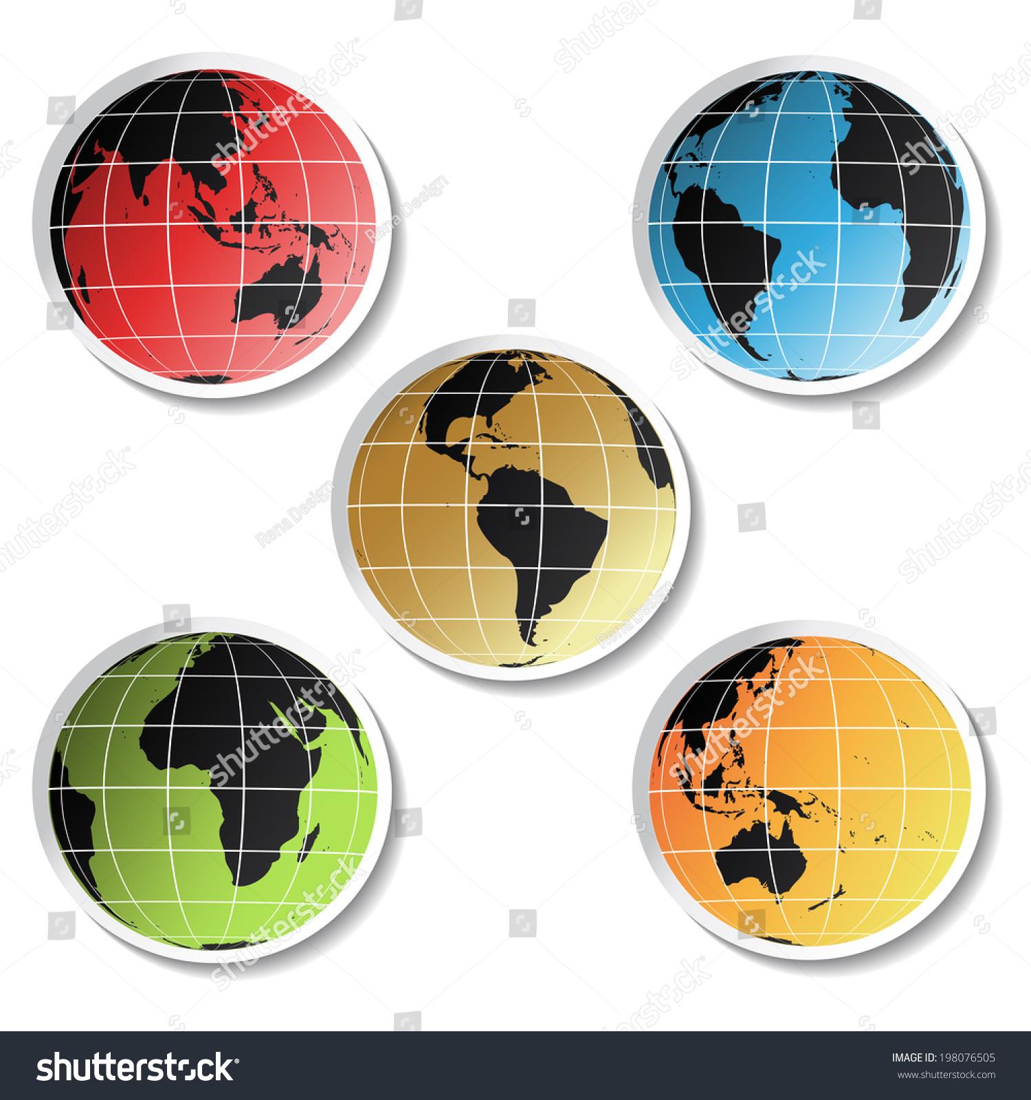 Stickers Globe Symbol World Stock Illustration 198076505 Shutterstock