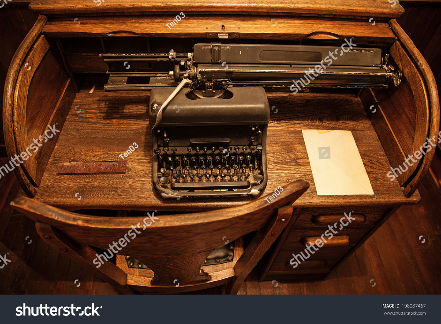 Incredible Antique Typewriter On Old Wooden Desk Stock Photo Edit Now Download Free Architecture Designs Embacsunscenecom