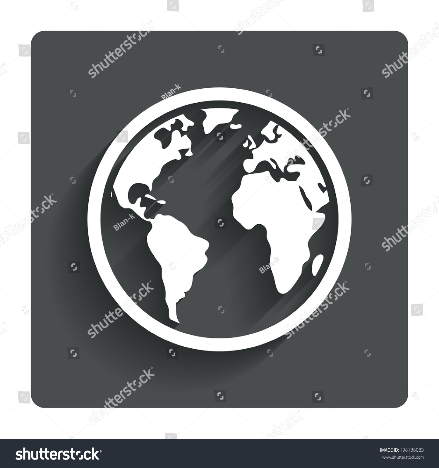 Globe sign icon world map geography stock vector 198138083 globe sign icon world map geography symbol gray flat button with shadow modern gumiabroncs Images