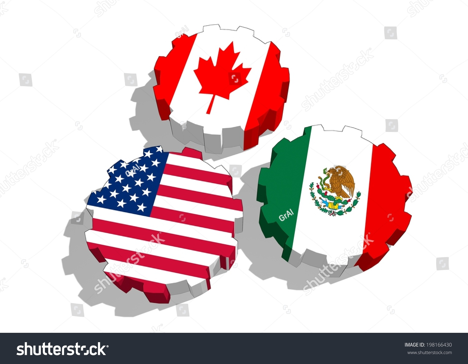 North American Free Trade Agreement Nafta Stock Illustration