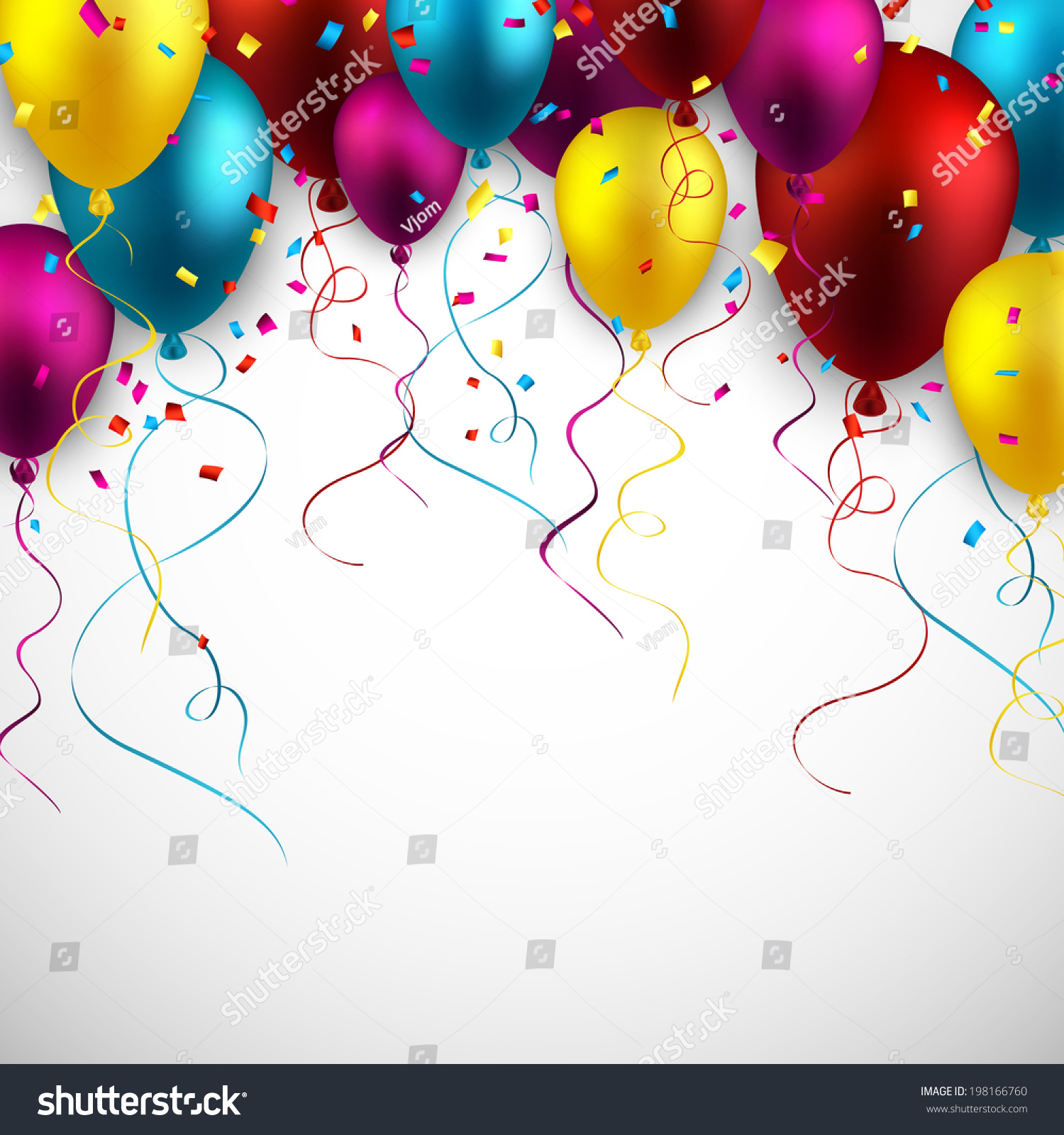 Celebration - Celebration Colorful Background With Balloons And Confetti Vector Illustration