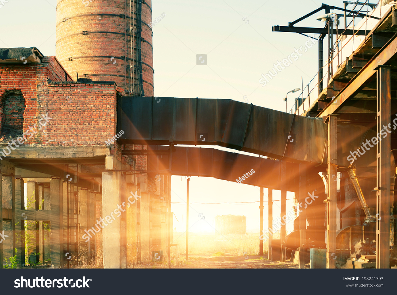 stock-photo-ruins-of-a-very-heavily-poll