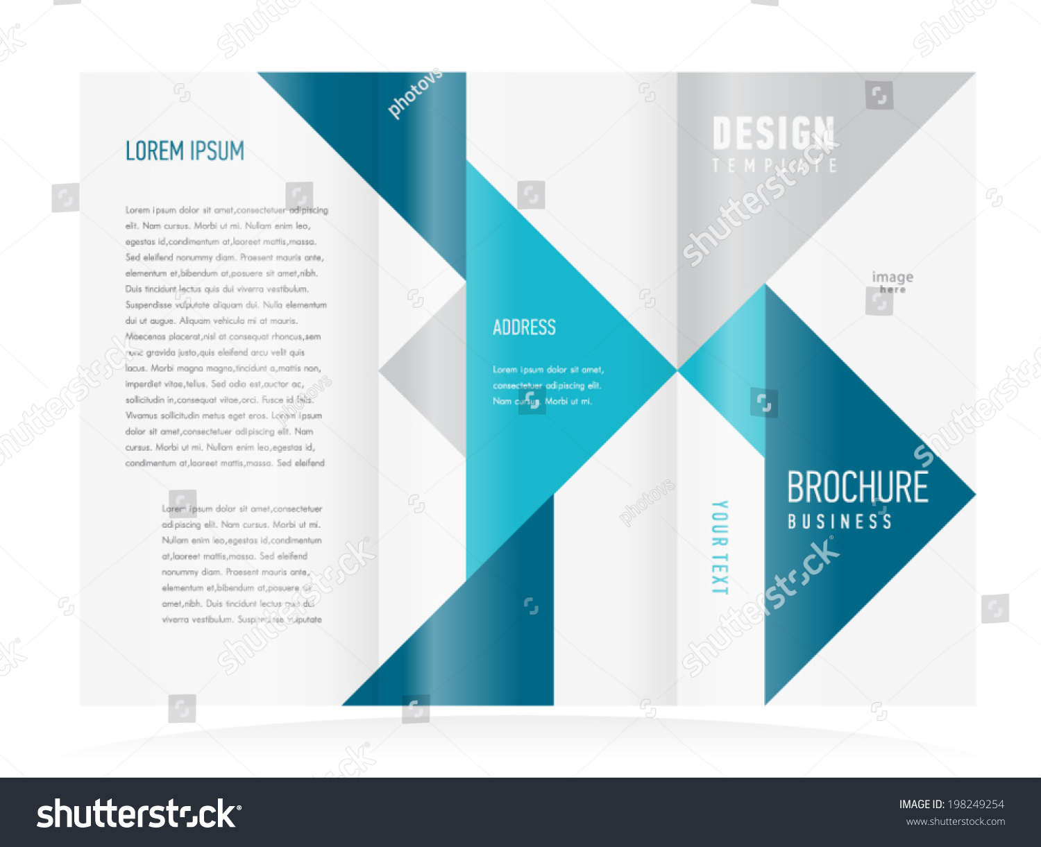 Brochure design template tri fold vector abstract for Fold out brochure template
