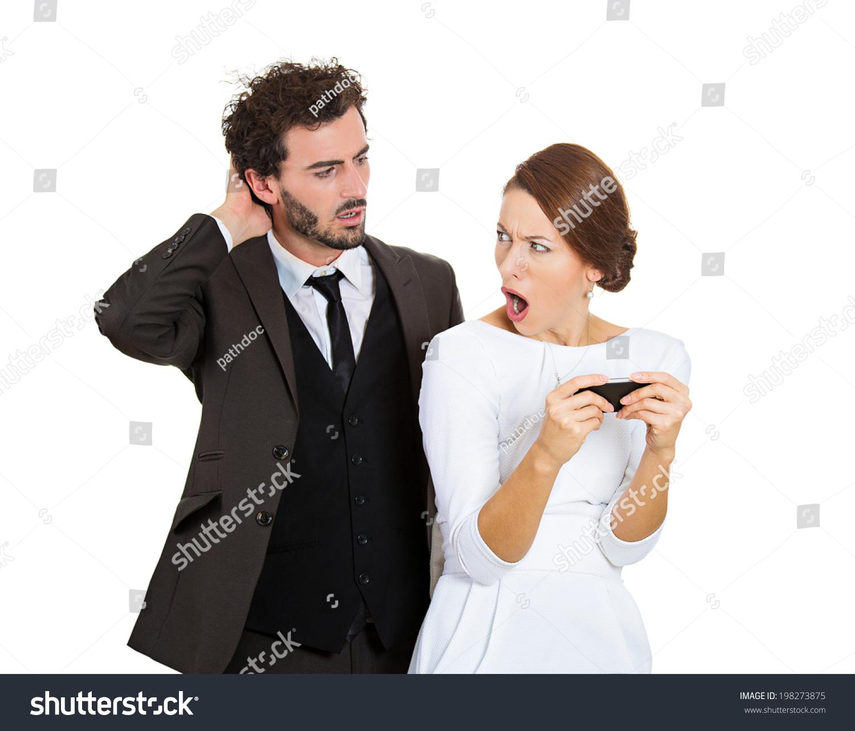 Boyfriend Gets Jealous Easily Stock Photo Portrait Sneaky Upset Jealous Possessive Boyfriend