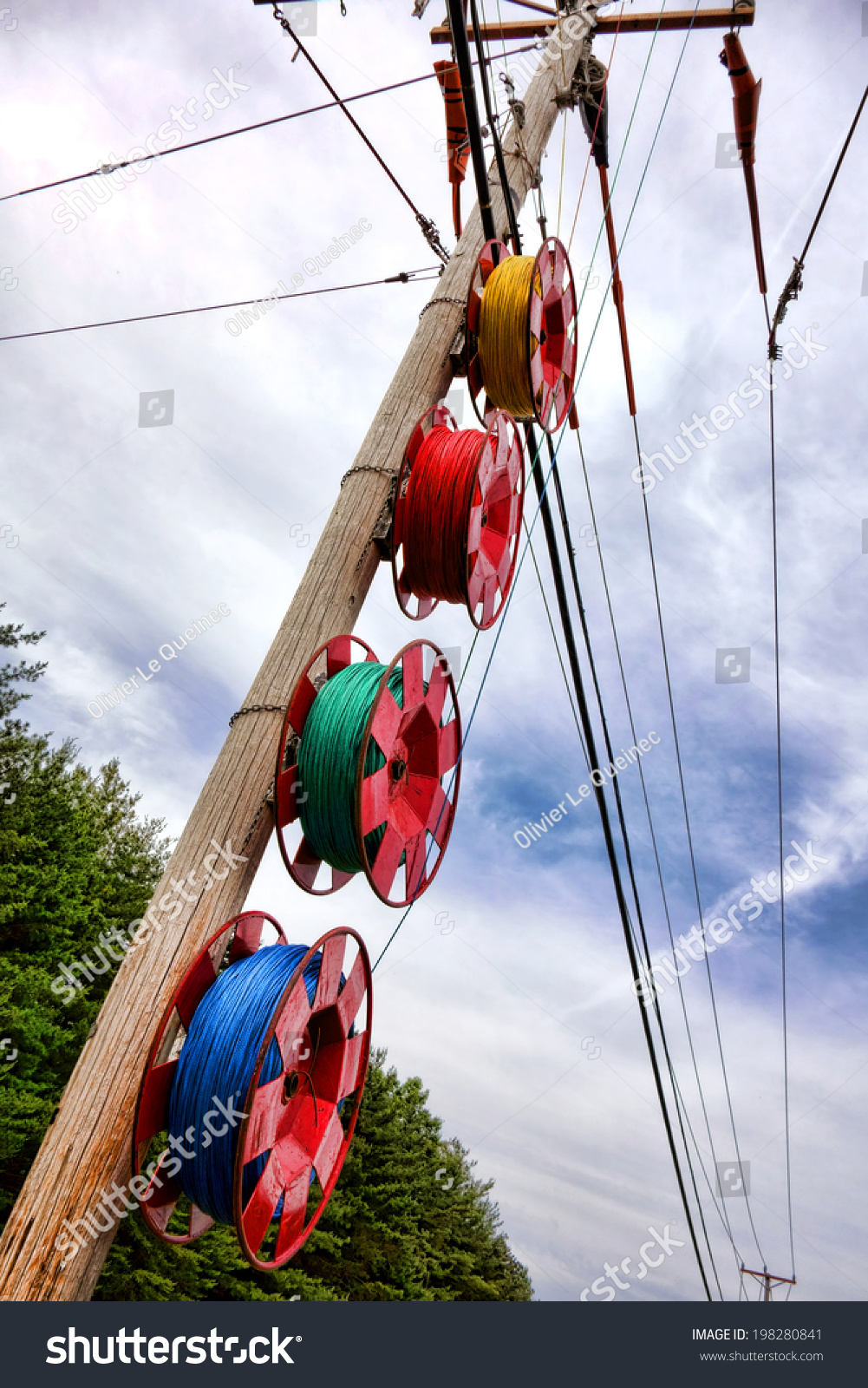 Spools Color Nylon Pull Ropes Hanging Stock Photo (Edit Now ...