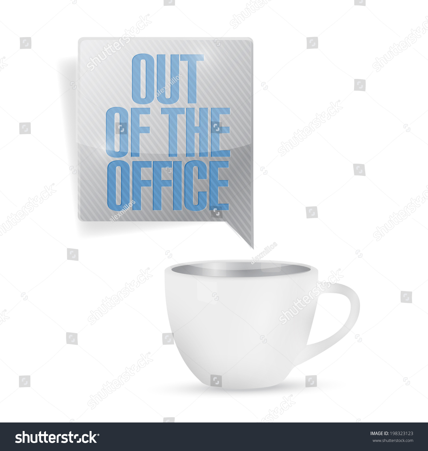 the office coffee mugs. Out Of Office Coffee Mug Illustration Design Over A White Background The Mugs