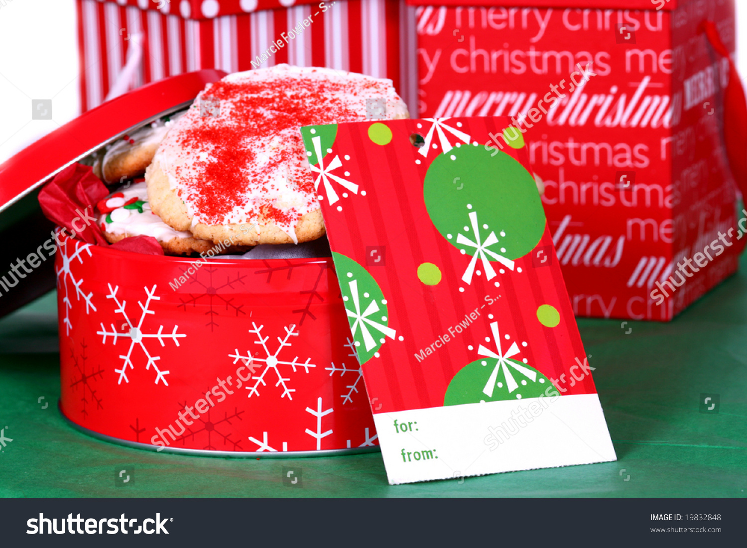 Time Full Christmas Cookies Gift Tag Stock Photo (Edit Now) 19832848 ...