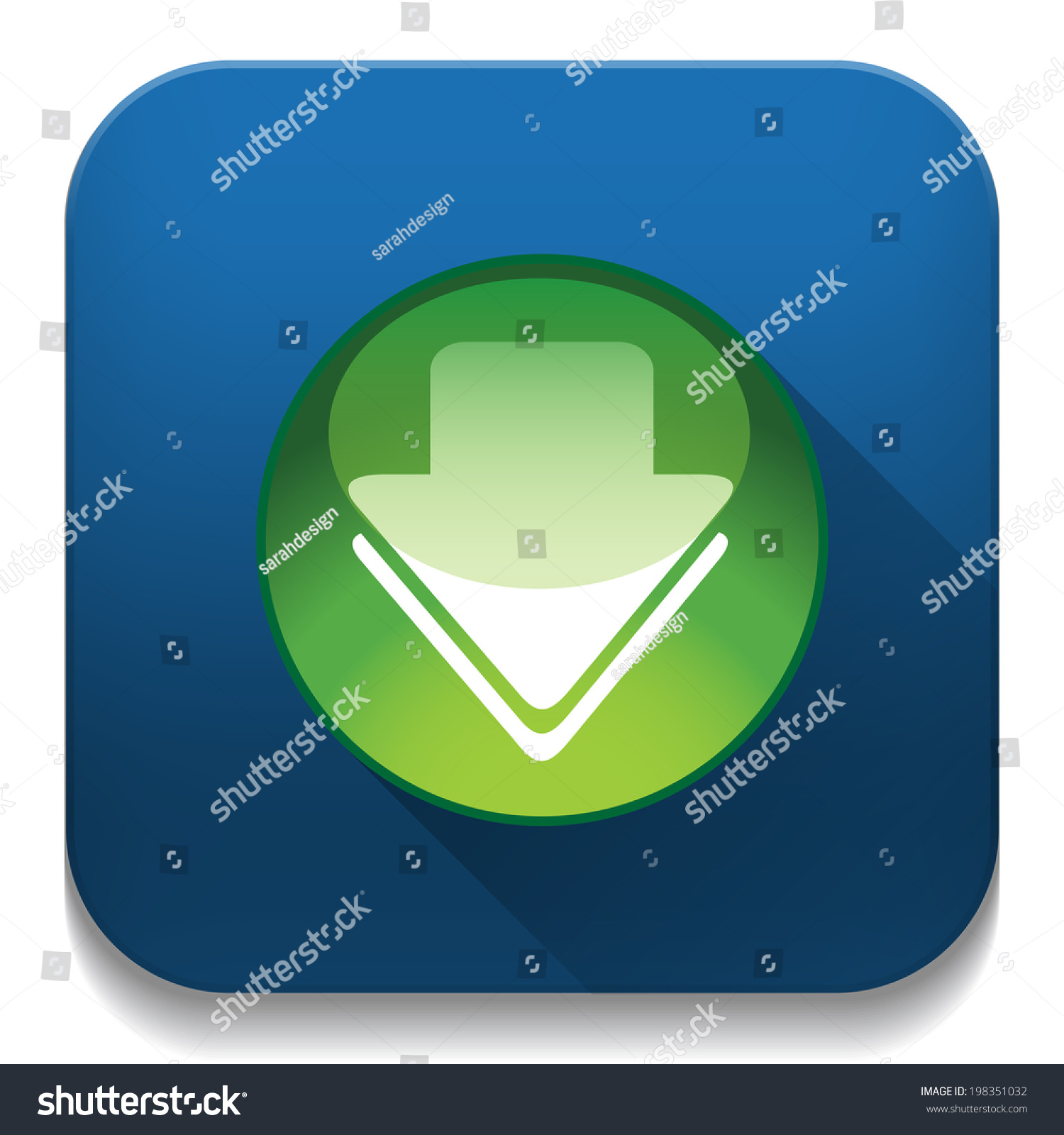 Download Icon Long Shadow Over App Stock Illustration