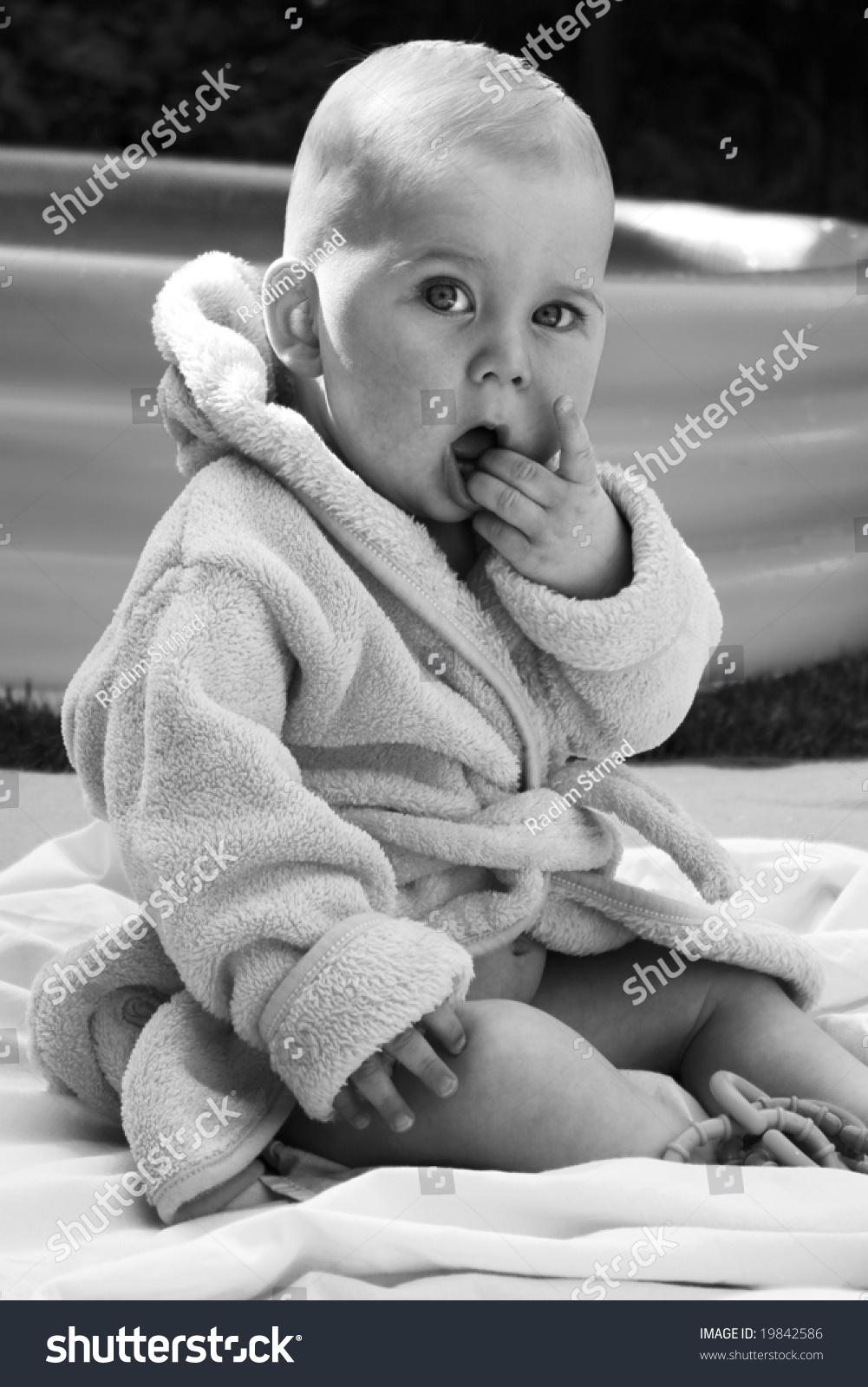 Baby Boy Near The Swimming Pool Stock Photo 19842586 Shutterstock