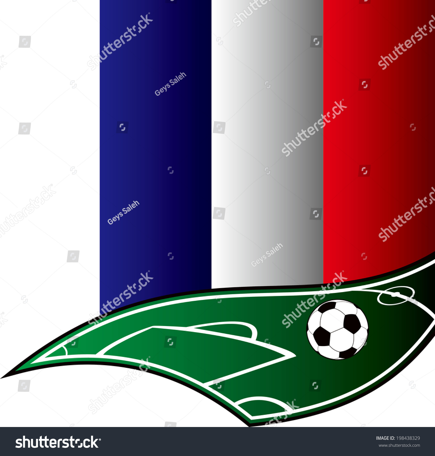 cool soccer with france flag