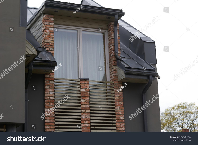 Modern luxury urban apartment building exterior #1984757759